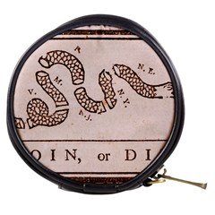 Original Design, Join Or Die, Benjamin Franklin Political Cartoon Mini Makeup Bags by thearts