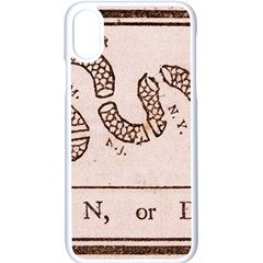 Original Design, Join Or Die, Benjamin Franklin Political Cartoon Apple Iphone X Seamless Case (white)