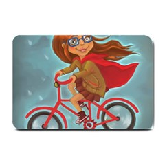 Girl On A Bike Small Doormat  by chipolinka