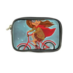 Girl On A Bike Coin Purse by chipolinka