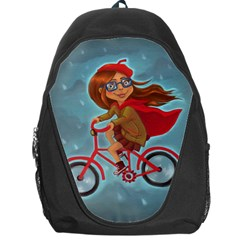 Girl On A Bike Backpack Bag by chipolinka