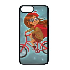 Girl On A Bike Apple Iphone 7 Plus Seamless Case (black) by chipolinka