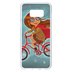 Girl On A Bike Samsung Galaxy S8 Plus White Seamless Case