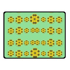 Sun Flowers For The Soul At Peace Fleece Blanket (small) by pepitasart