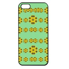 Sun Flowers For The Soul At Peace Apple Iphone 5 Seamless Case (black) by pepitasart