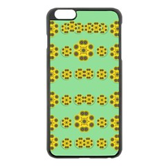 Sun Flowers For The Soul At Peace Apple Iphone 6 Plus/6s Plus Black Enamel Case by pepitasart
