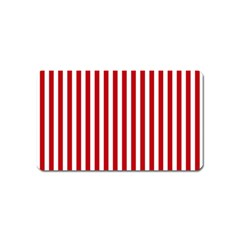 Red Stripes Magnet (name Card) by jumpercat