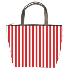 Red Stripes Bucket Bags by jumpercat