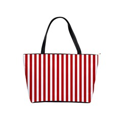 Red Stripes Shoulder Handbags