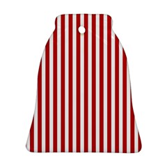 Red Stripes Bell Ornament (two Sides) by jumpercat