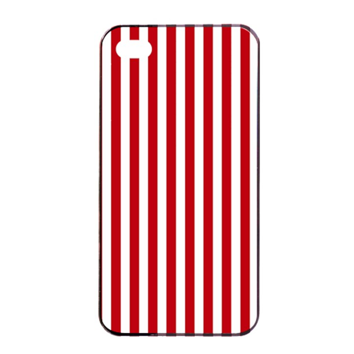 Red Stripes Apple iPhone 4/4s Seamless Case (Black)