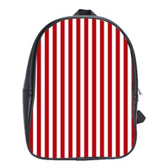 Red Stripes School Bag (xl) by jumpercat