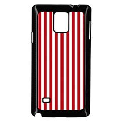 Red Stripes Samsung Galaxy Note 4 Case (black) by jumpercat