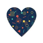 Blue Background Backdrop Geometric Heart Magnet Front