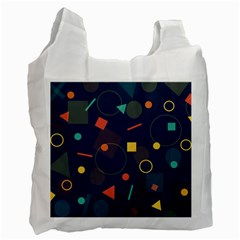 Blue Background Backdrop Geometric Recycle Bag (one Side) by Nexatart