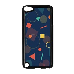 Blue Background Backdrop Geometric Apple Ipod Touch 5 Case (black) by Nexatart