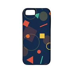 Blue Background Backdrop Geometric Apple Iphone 5 Classic Hardshell Case (pc+silicone)