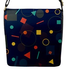 Blue Background Backdrop Geometric Flap Messenger Bag (s)