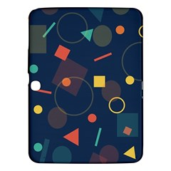 Blue Background Backdrop Geometric Samsung Galaxy Tab 3 (10 1 ) P5200 Hardshell Case