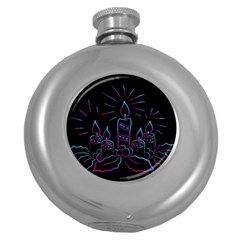 Advent Wreath Candles Advent Round Hip Flask (5 Oz) by Nexatart