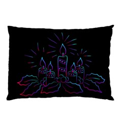 Advent Wreath Candles Advent Pillow Case by Nexatart