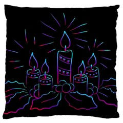 Advent Wreath Candles Advent Large Cushion Case (one Side) by Nexatart