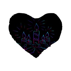 Advent Wreath Candles Advent Standard 16  Premium Heart Shape Cushions