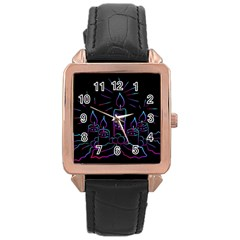 Advent Wreath Candles Advent Rose Gold Leather Watch