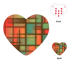Background Abstract Colorful Playing Cards (heart)