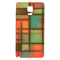 Background Abstract Colorful Galaxy Note 4 Back Case by Nexatart