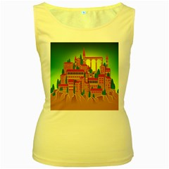 Mountain Village Mountain Village Women s Yellow Tank Top