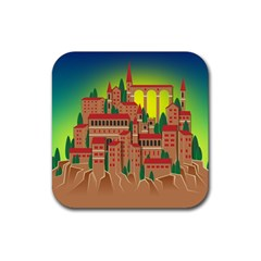 Mountain Village Mountain Village Rubber Square Coaster (4 Pack)