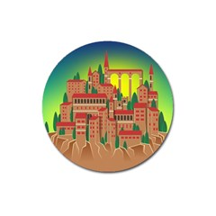 Mountain Village Mountain Village Magnet 3  (round)