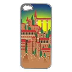 Mountain Village Mountain Village Apple Iphone 5 Case (silver) by Nexatart