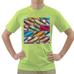 Colorful Painted Bricks Street Art Kits Art Green T Shirt by Costasonlineshop