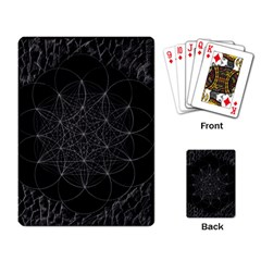Sacred Geometry Music 144links Playing Card by Cveti