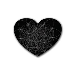 Sacred Geometry Music 144links Rubber Coaster (heart)  by Cveti