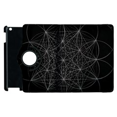 Sacred Geometry Music 144links Apple Ipad 3/4 Flip 360 Case by Cveti