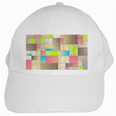 Background Abstract Grid White Cap