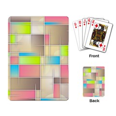 Background Abstract Grid Playing Card