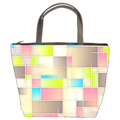 Background Abstract Grid Bucket Bags