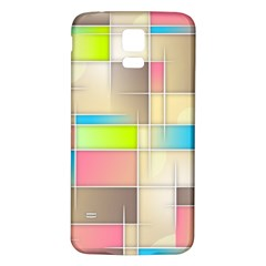 Background Abstract Grid Samsung Galaxy S5 Back Case (white) by Nexatart