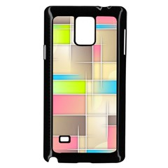 Background Abstract Grid Samsung Galaxy Note 4 Case (black)