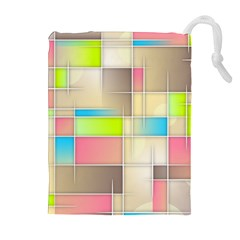 Background Abstract Grid Drawstring Pouches (extra Large) by Nexatart
