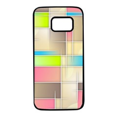 Background Abstract Grid Samsung Galaxy S7 Black Seamless Case by Nexatart