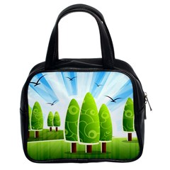Landscape Nature Background Classic Handbags (2 Sides) by Nexatart