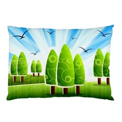 Landscape Nature Background Pillow Case by Nexatart