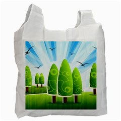 Landscape Nature Background Recycle Bag (two Side)