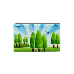 Landscape Nature Background Cosmetic Bag (small)