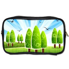 Landscape Nature Background Toiletries Bags 2 Side